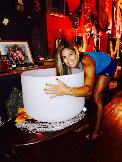 Huge Crystal Sing bowl for Guru Reiki Yoga Spa healing energy 2015